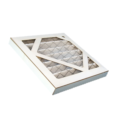 Air filter pleated